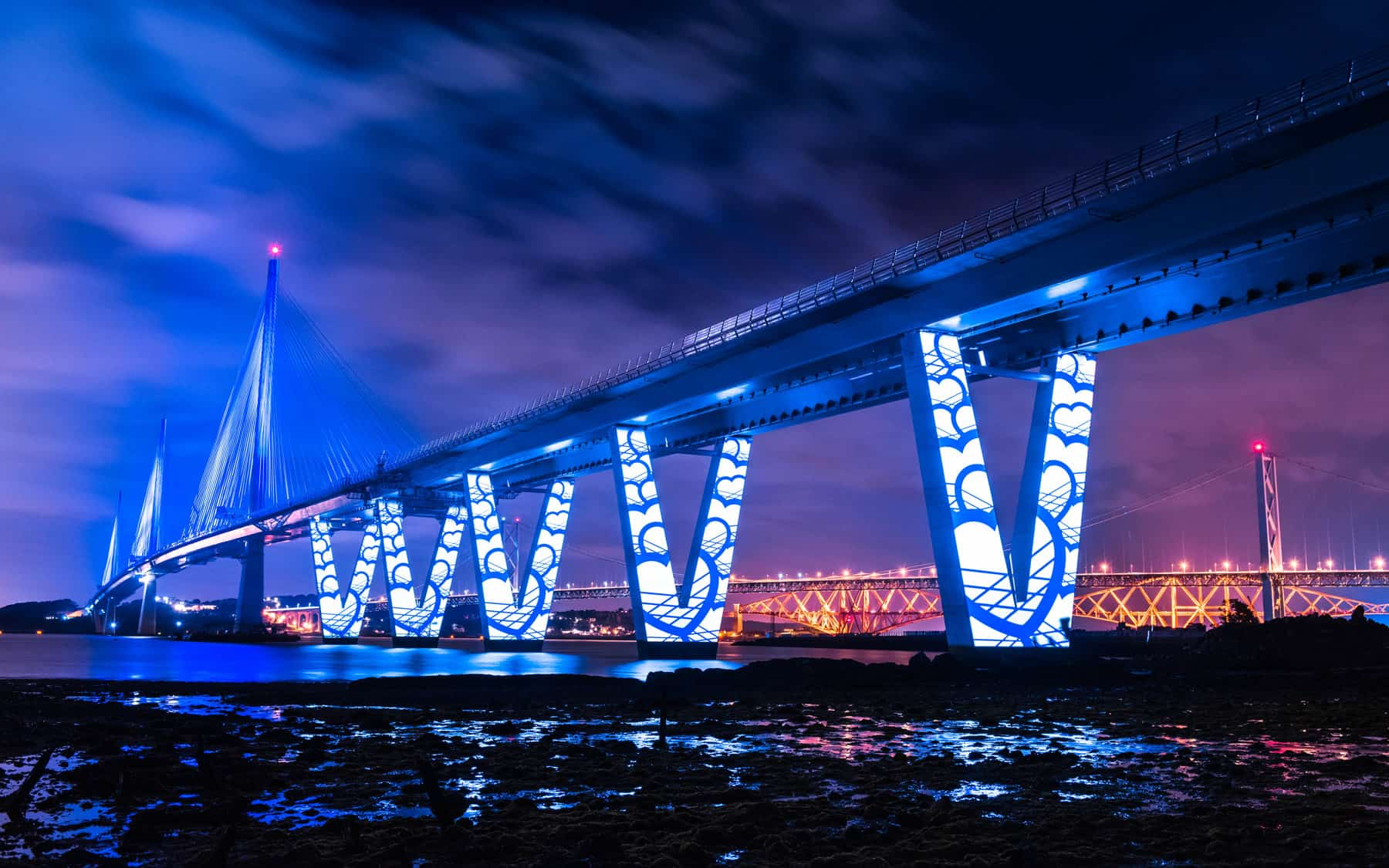 Queensferry crossing projections