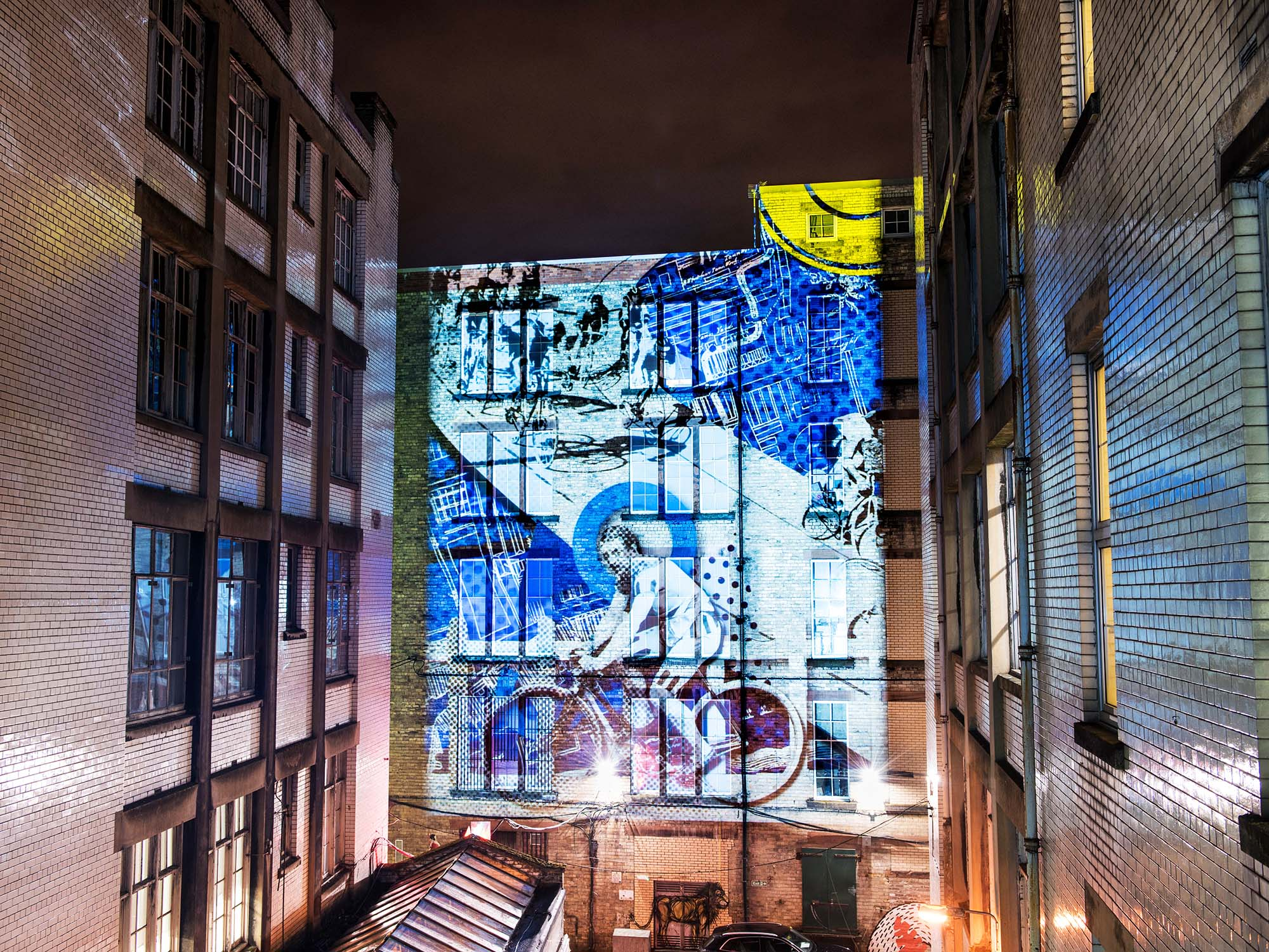 Tontine Lane Glasgow Archive Projection show