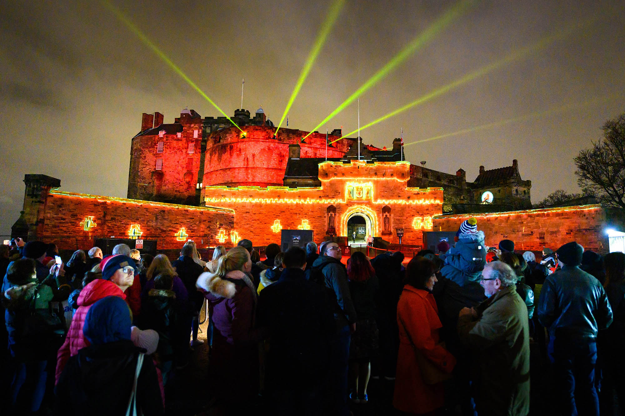 Castle of Light, Projection Light Walk, Christmas show