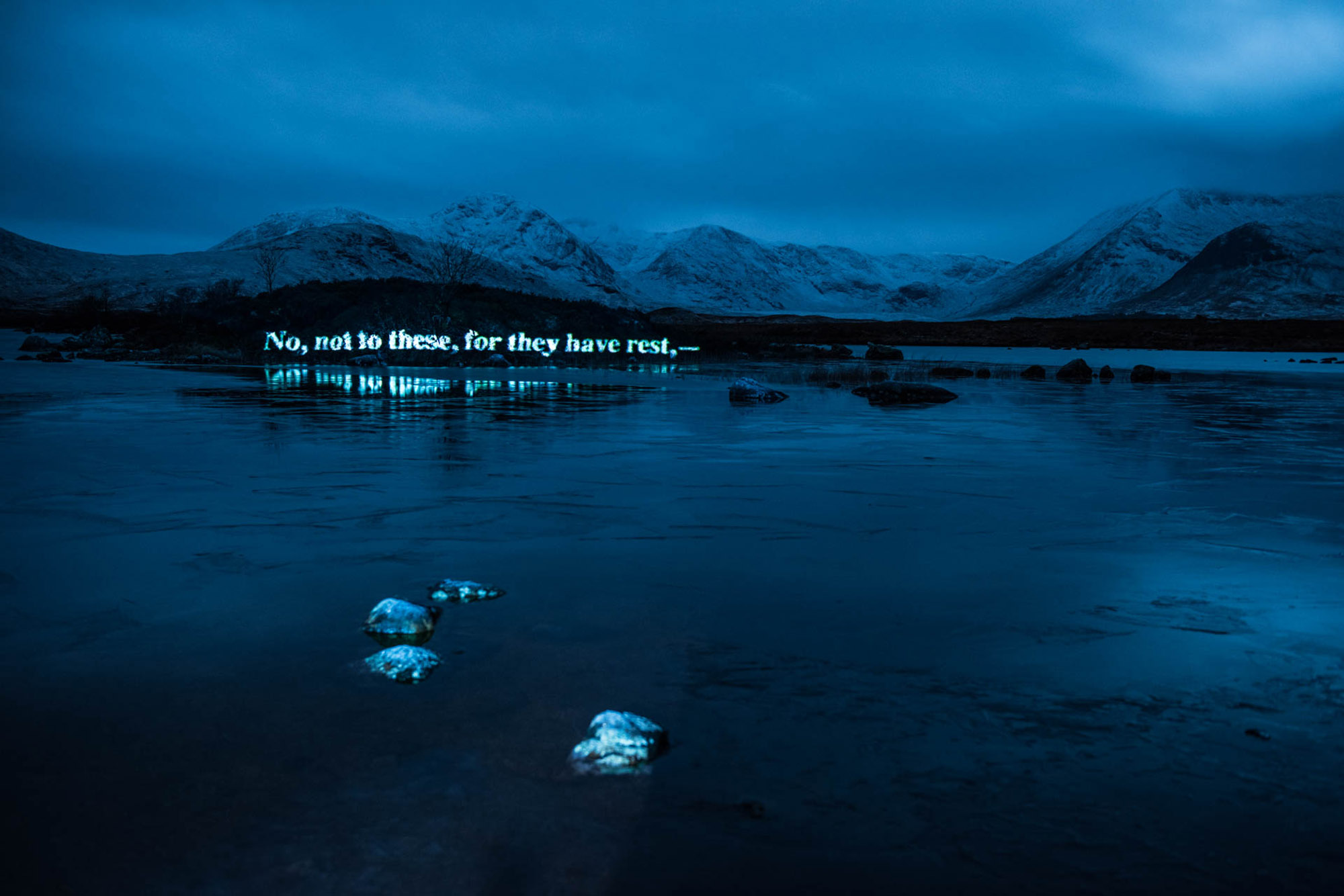 On The Massacre of Glencoe, Projection timelapse film, loch