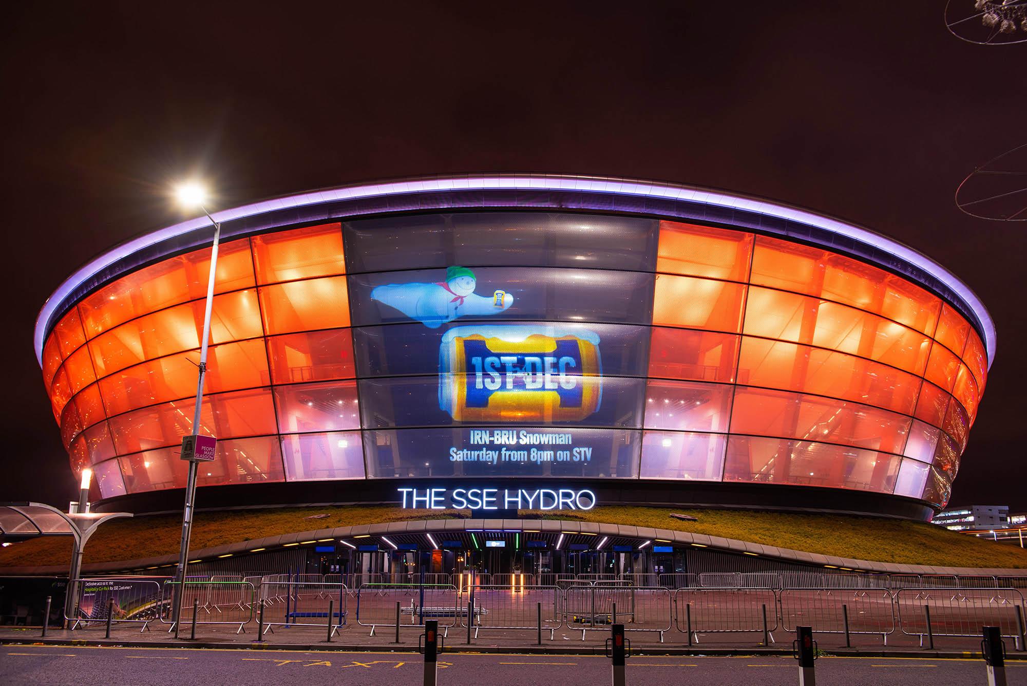 Irn Bru Projection Marketing, on Glasgow SSE Hydro