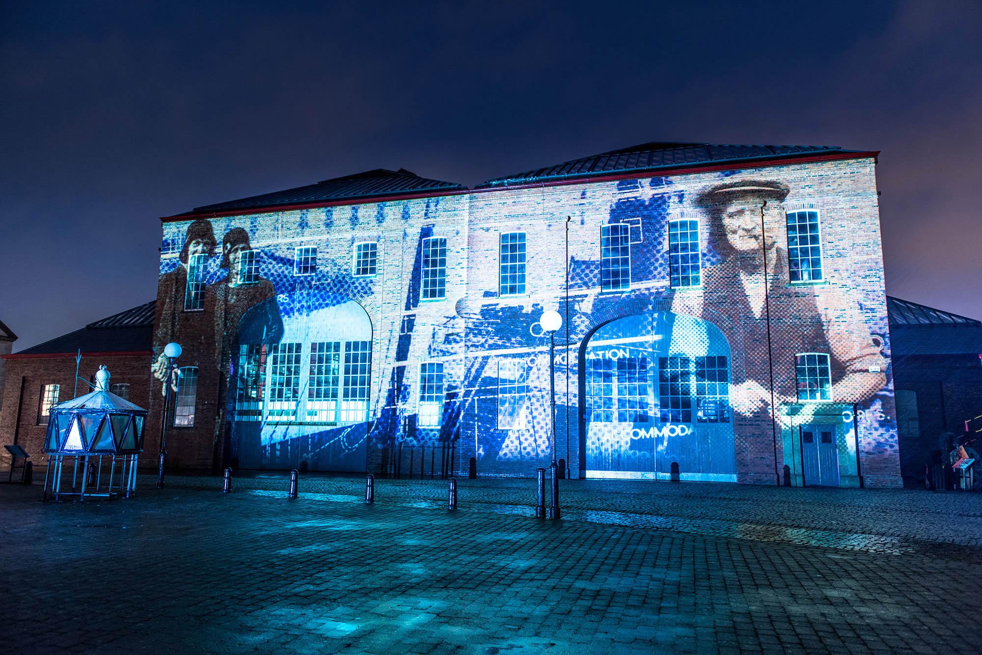 Illumination, Irvine Maritime Museum projection show, archive footage
