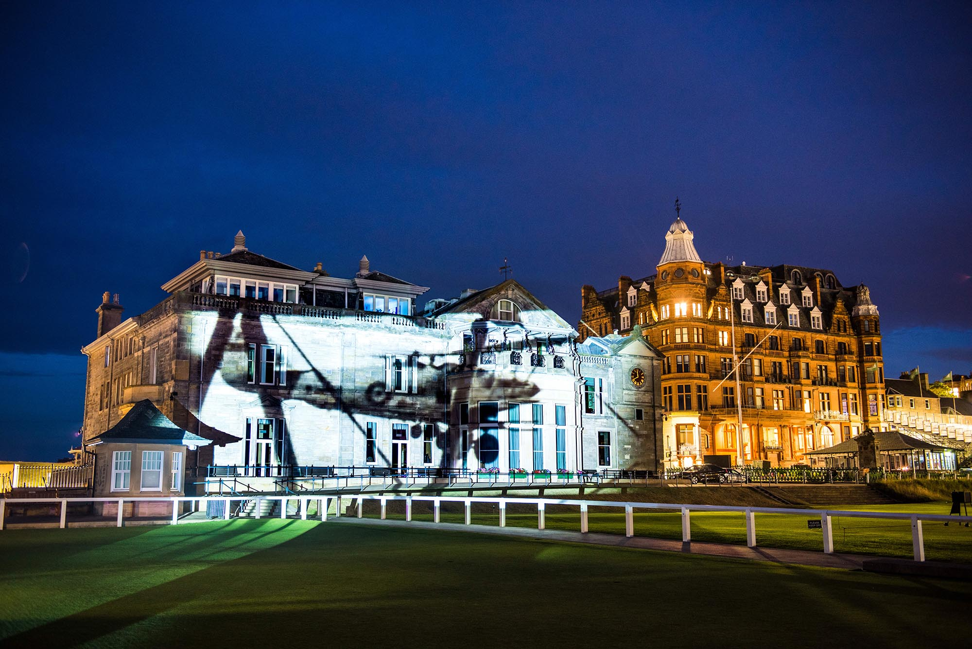 Poppy Scotland projection timelapse film, on St Andrews Golf Club