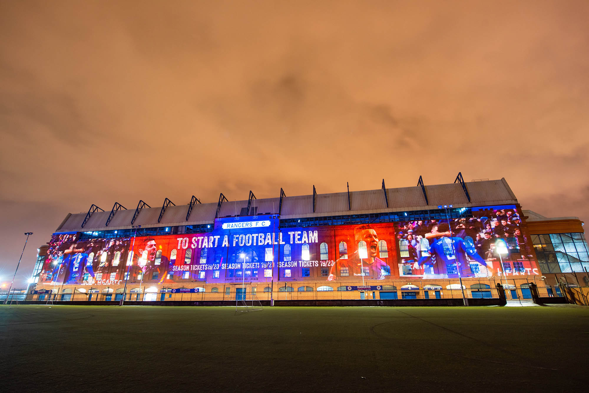 Ibrox Projection mapping for Rangers Season Ticket Launch