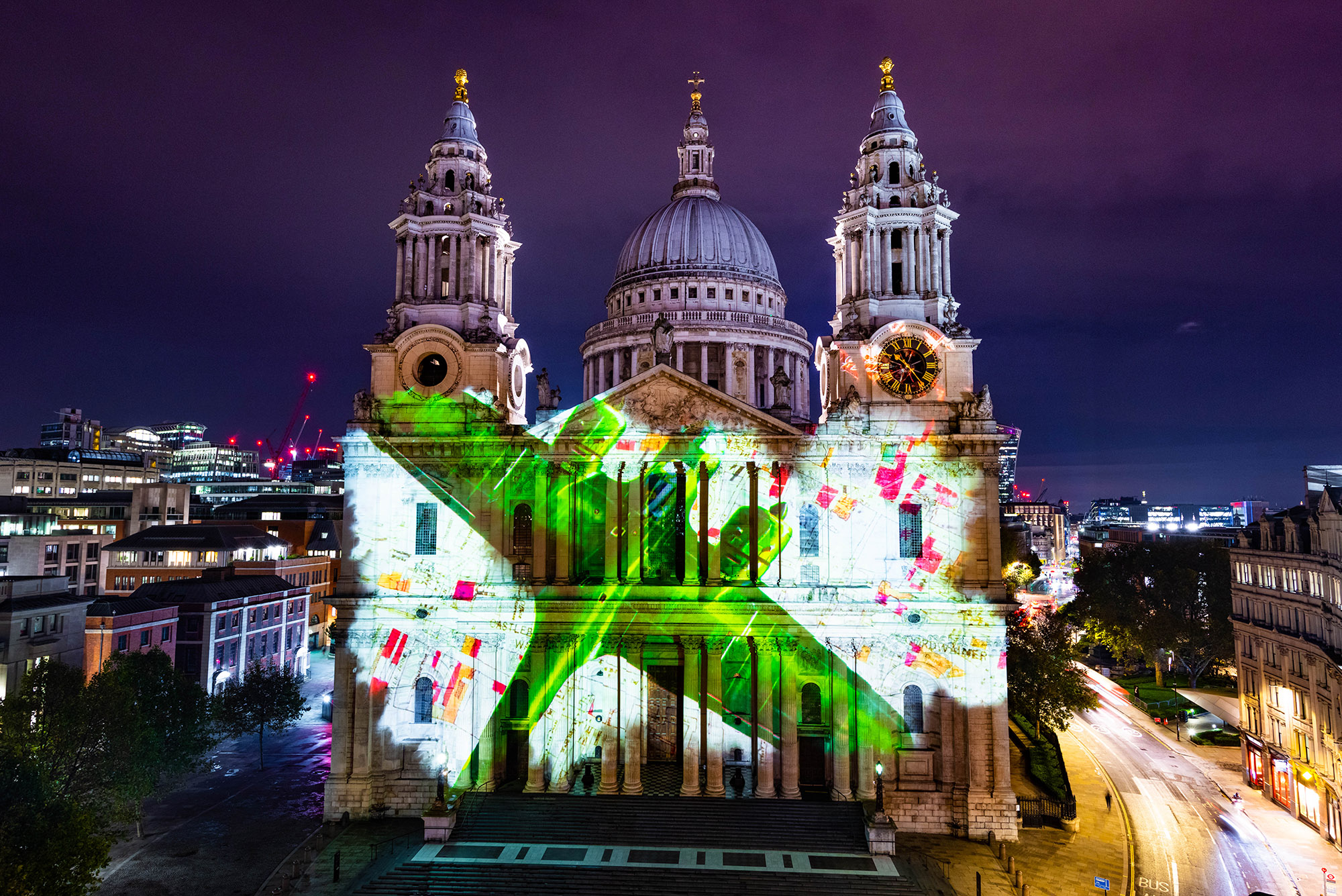 Where Light Falls, Projection mapping show on St Paul's Cathedral