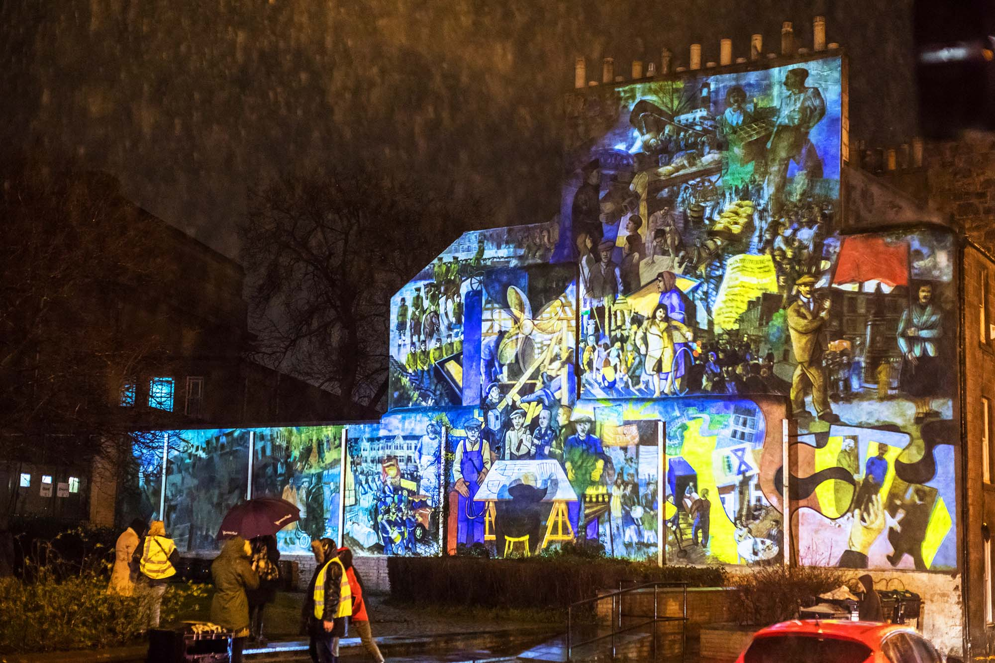 leith mural projection in full