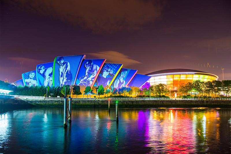 European Championships 2018, Projection on the Glasgow Armadillo