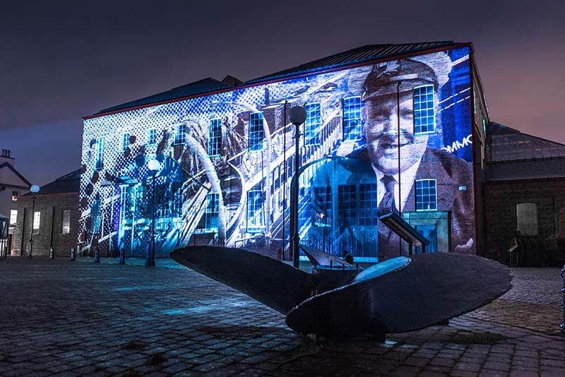 Illumination, Irvine Maritime Museum projection show, archive footage