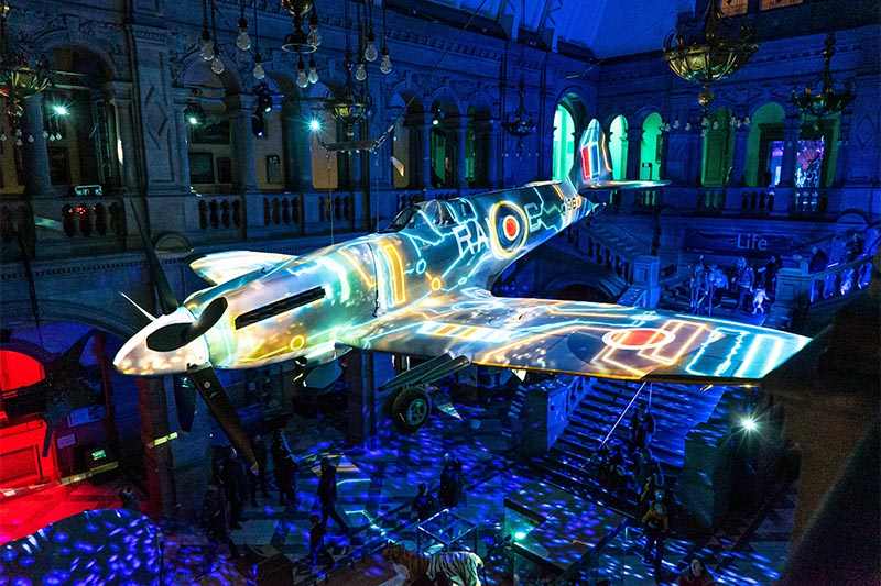 Spitfire Projection Mapping at Kelvin Grove Art Gallery Glasgow