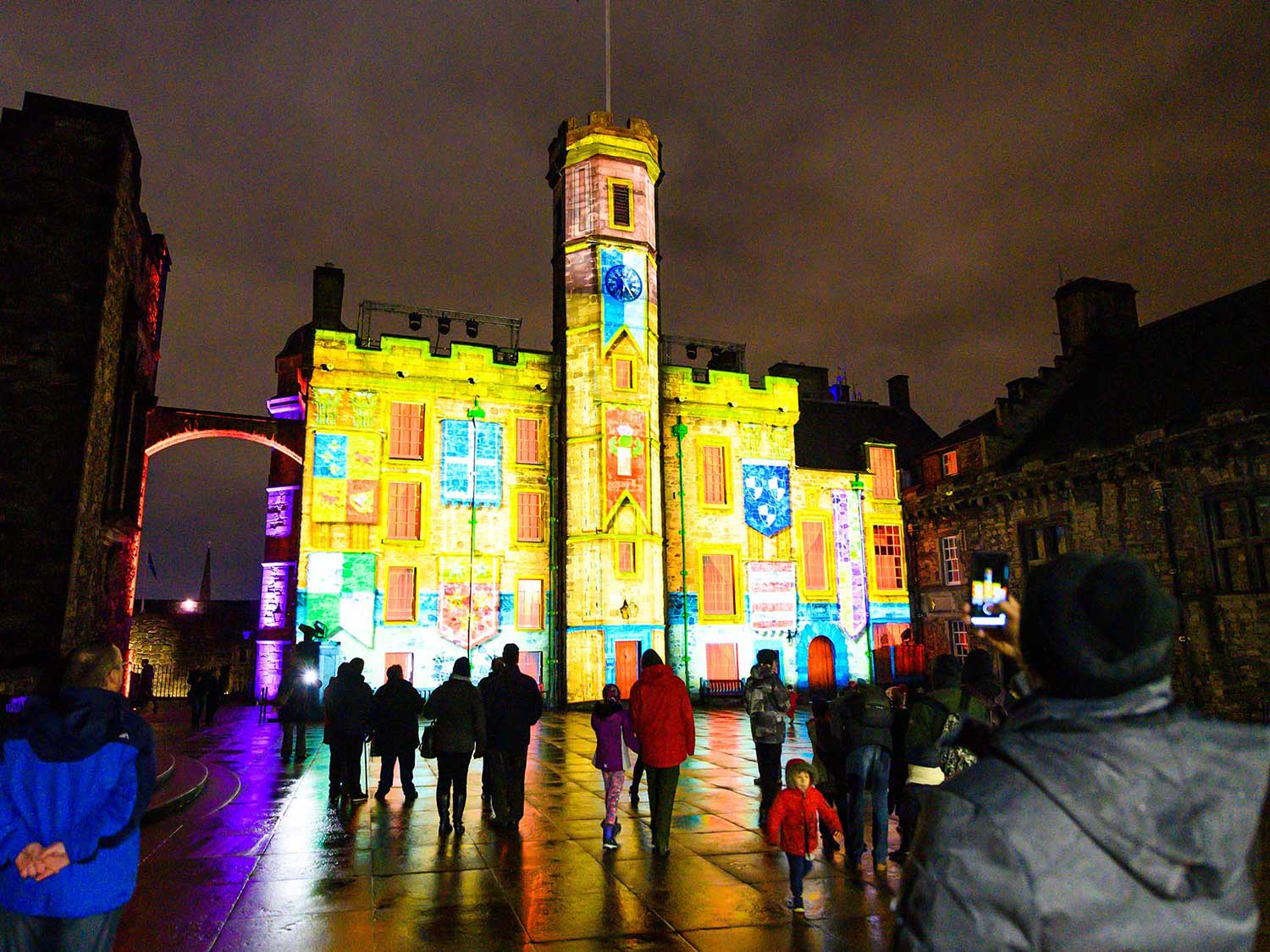 Castle of Light Christmas projection mapping Edinburgh