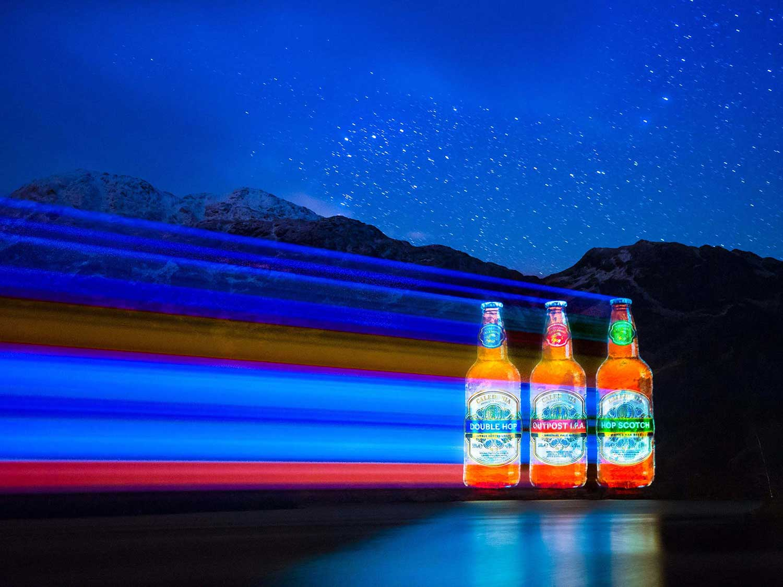 Caledonia Beer Bottles Guerrilla Projections Loch Katrine