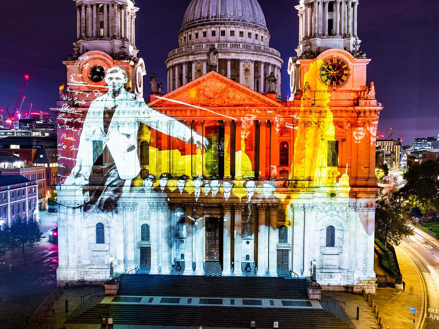 Where Light Falls, St Paul's Cathedral Projection Event