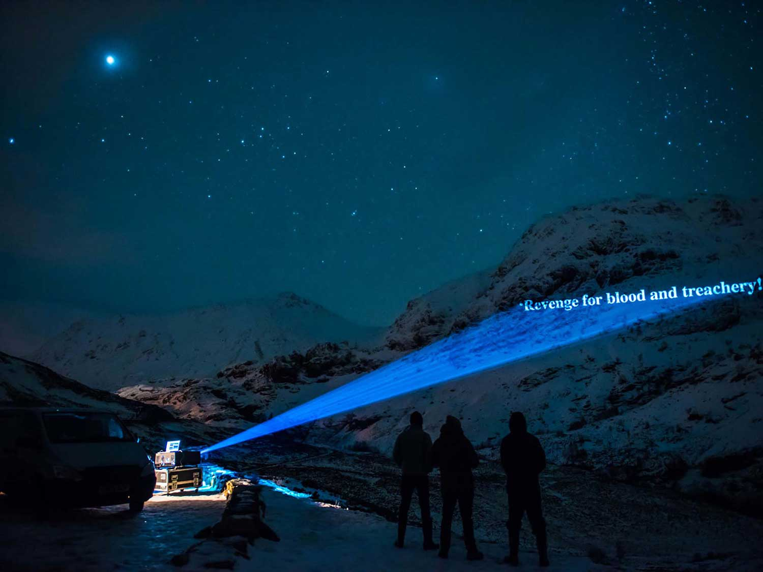 On The Massacre of Glencoe, Guerrilla Projections timelapse film, mountain