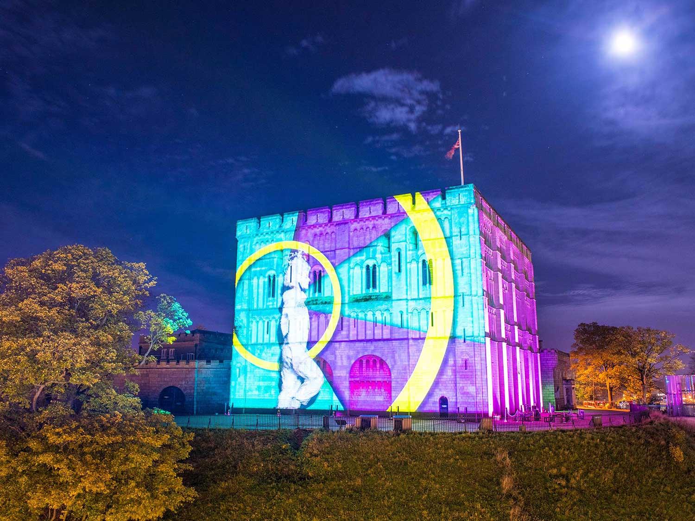 Norwich Castle Christmas Building Projections show