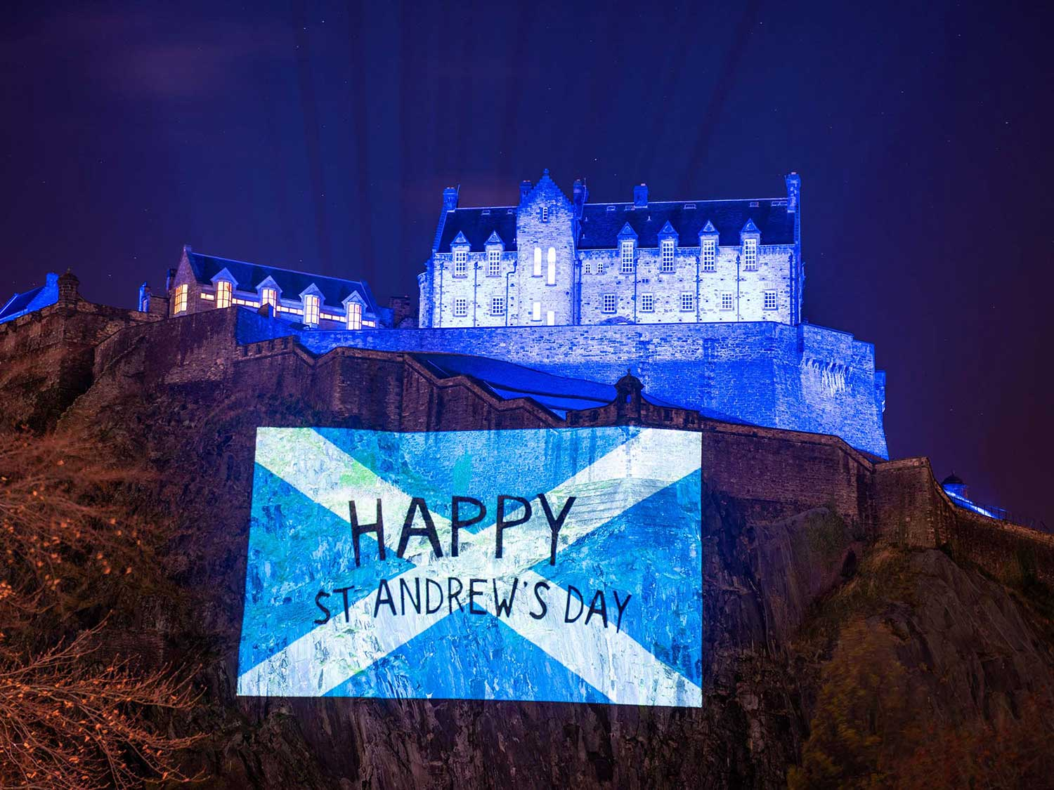 Scottish Governmemt Timelapse Guerrilla Projections film, for st andrews day