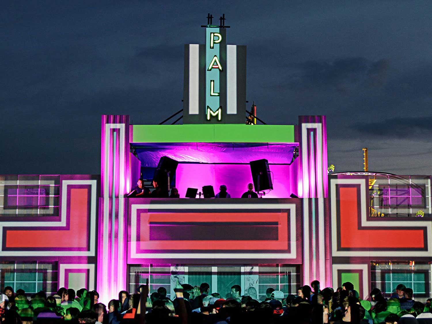 T in the Park Stage VJing set projections
