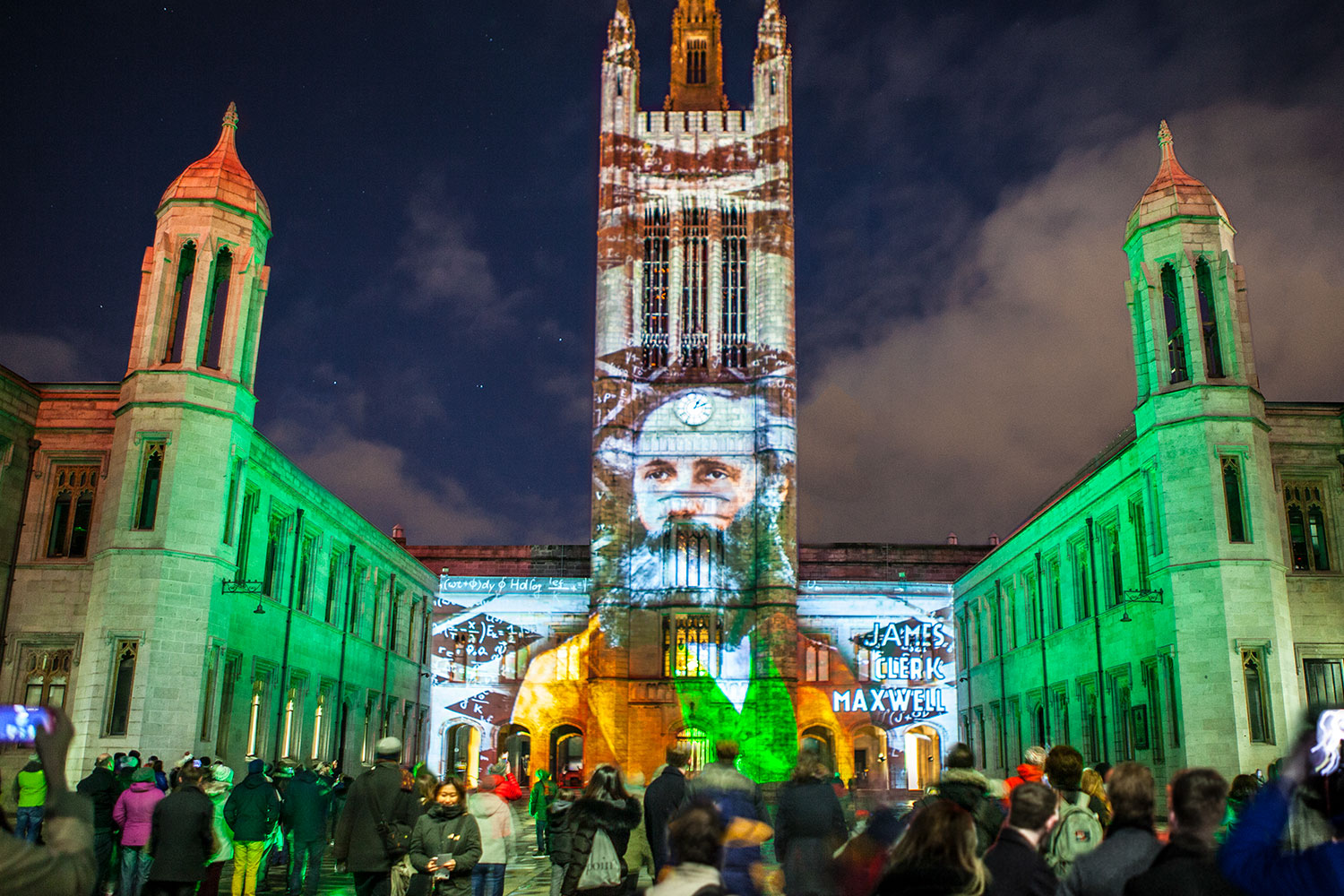 Aberdeen projection, mapping projection, Christmas show, street projection