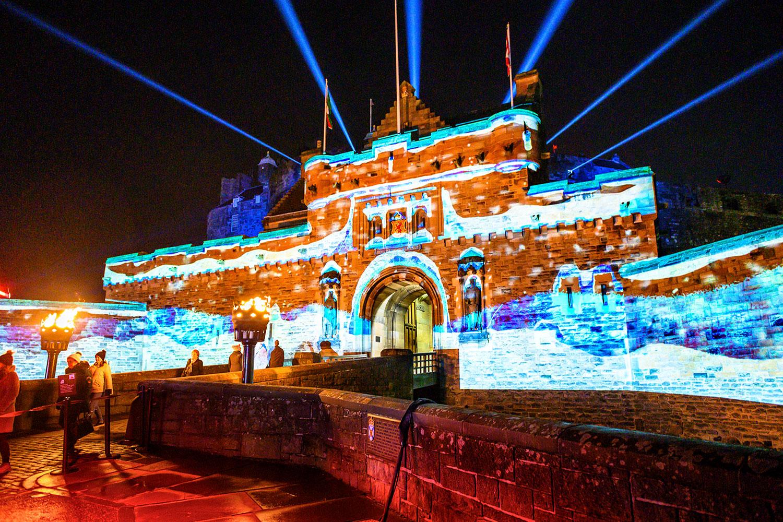 Castle of Light, Edinburgh Castle projection mapping, video projection, projection mapping project
